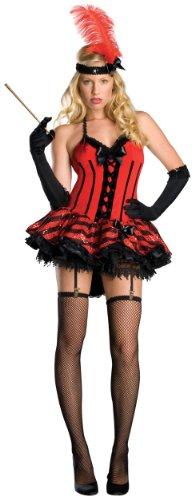 Secret Wishes  Cabaret Dress Costume, Red, Large