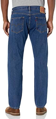 Levi's Men's 505 Regular Fit Jeans    Find your favorite pair of blue jeans for men, a timeless classic fit. While some denim styles may come and go, our men's jeans have always been timeless. Get Levi's men's straight leg jeans for a balanced cut that is simple and casual. ImportedZipper closureMachine wash jeans inside out with like colors using liquid detergentMid Rise Men's Blue Jeans: Sits at WaistThese men's jeans have extra room through seat and thighMen's straight leg jeans with zipper closureWash and dry inside out with like colors; Liquid detergent is recommended