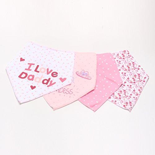 Kolamom Baby Bandana Drool Bibs 4 Pack 100% Absorbent Cotton I Love Daddy Set by Kolamom