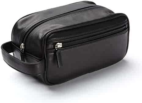 a0d8b0dc04 Leatherology Small Shave Toiletry Bag - Full Grain Leather - Black Onyx  (black)