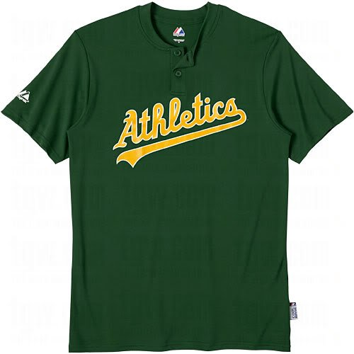 Oakland Athletics Replica Jerseys (Oakland A's (Athletics) (ADULT LARGE) Two Button MLB Officially Licensed Majestic Major League Baseball Replica Jersey)