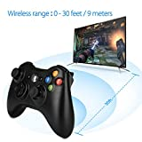 Wireless Controller for Xbox 360, WeiCheng Wireless Gaming Controller Gamepads Game Joysticks for Xbox 360 Windows 7, 8, 10 2.4Ghz Black