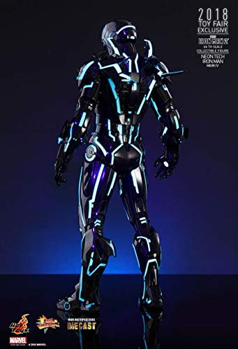 Hot Toys Movie Masterpiece - Iron Man 2 - Mark IV (4) Neon Tech Suit Diecast 1/6 Scale Collectible Figure 2018 Toy Fair Exclusive Limited 500 Worldwide
