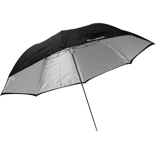 Westcott 2011 43-Inch Optical White Satin Collapsible with Removable Black Cover Umbrella (Black) by Westcott