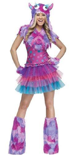 FunWorld Polka Dot Monster, Pink/Purple, 2-8 Small Costume]()