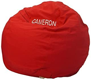 product image for Bean Bag Chair Kid Size Personalized Embroidered Comfy Bean - Red