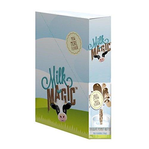 Milk Glass Strawberry (Milk Magic Milk Flavoring Magic Straws Assorted Flavors (Chocolate Peanut Butter, 56 Count))