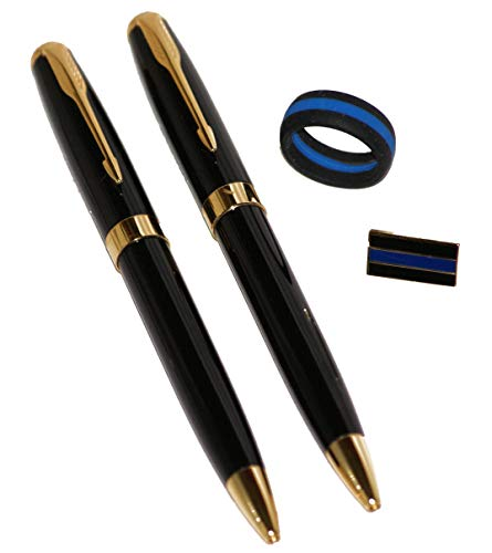 Detective/Executive Professional Black and Gold Pens (2 Pen Pack)