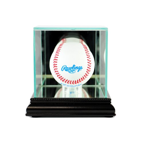 Perfect Cases MLB Single Baseball Glass Display Case, Black ()