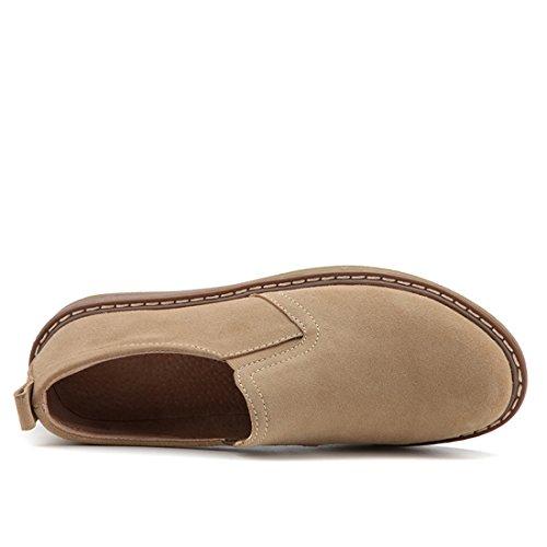 Z.SUO Women Classic Flat Shoe Lace Up Faux Suede Oxford Khaki nixf4p
