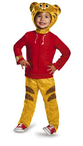 Cheap Animal Halloween Costumes (Daniel Tiger's Neighborhood Daniel Tiger Classic Toddler Costume, Medium/3T-4T)