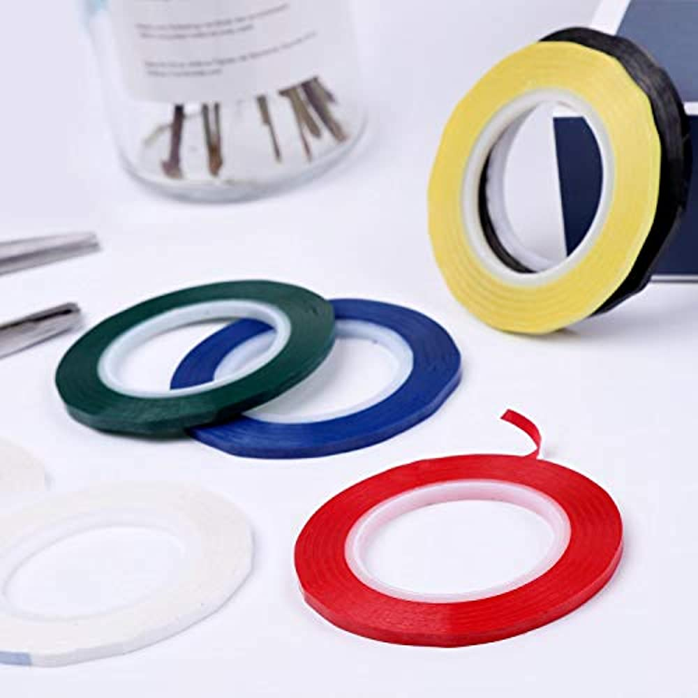 Cridoz 12 Rolls 1//8 Whiteboard Tape Thin White Board Tape Lines Pinstripe Dry Erase Art Tape Graphic Chart Grid Electrical Tape 108 Feet Per Roll
