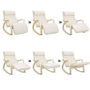 Songmics lyy10m sedia a dondolo con poggia gambe di angolo for Poggia asciugamani ikea