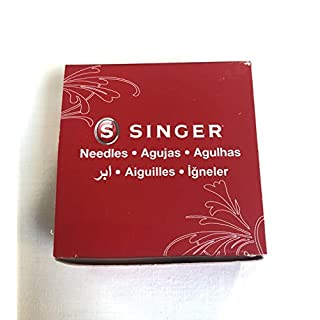Singer Sewing Machine Needles 2020 Red Band Size 11/80 Box (25 Cards of 10, 250 Needles Total)