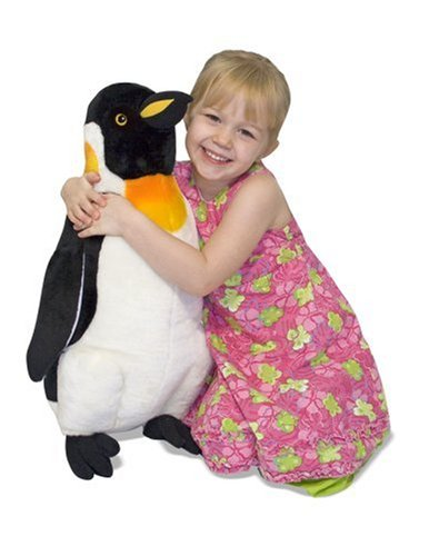 Melissa & Doug Giant Penguin - Lifelike Stuffed Animal (nearly 2 feet tall) Tall Penguins