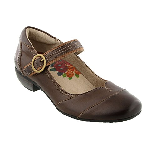 Taos Footwear Women's Virtue Chocolate Mary Jane 6.5 M US