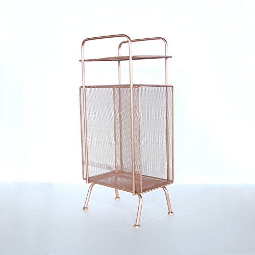 Iron creative corner frame / shelf / floor multi-function shelves / storage rack ( Color : Rose gold ) by Flower racks - xin