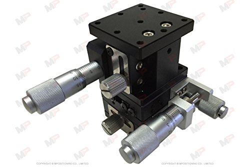 MPositioning T40XYZ-13R10A Precision XYZ 3 Axis Linear Positioning Stage 13 mm Travel in XY and 10 mm Travel in Z