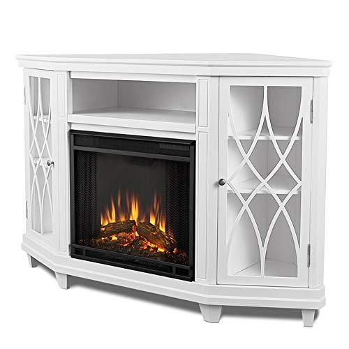 Real Flame Lynette Electric Fireplace in White Finish
