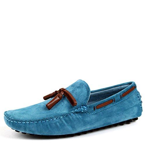 Mens Avslappnade Mocka Driv Skor Komfort Mockasiner Loafers Båt Skor 022-2 Kaffe