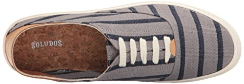 Soludos Mens Striped Classic Sneaker Gray Navy ZylIgRlwh5