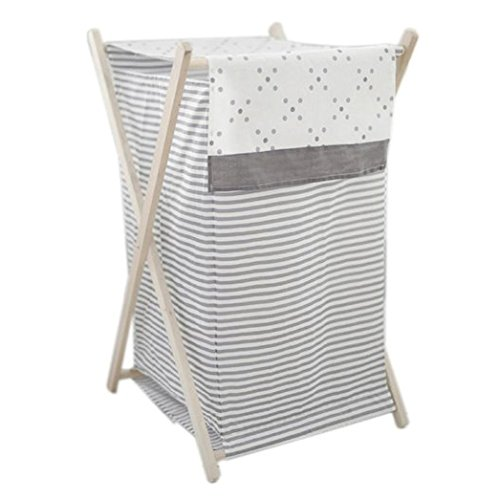My Baby Sam Imagine Hamper, Gray and White Inc. HP180