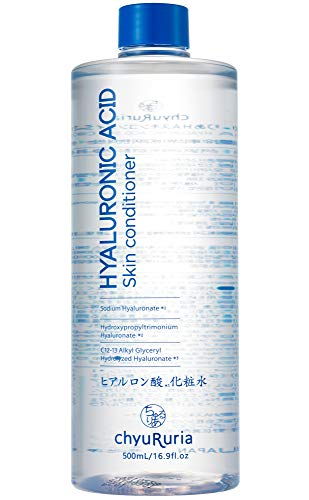 Chyururia Hyaluronic Acid Skin Conditioner, Face Toner for Dry and Normal Skin, Product of Japan - 16.9 fl. oz