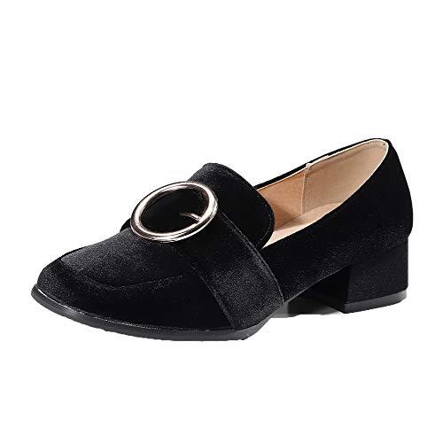 Basso Flats Tacco Ballet di Nero Puro Donna Mucca FBUIDD006585 AllhqFashion Tirare Pelle Hw0pzx6q