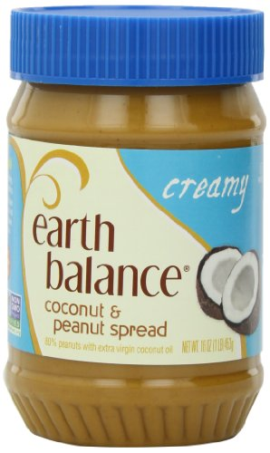 Creamy Spread - Earth Balance Coconut and Peanut Butter Spread, Creamy, 16 Ounce (Pack of 12)