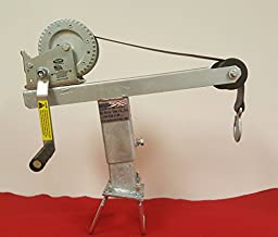Heavy Duty Angled Winch Stand With 1400lb Winch and strap