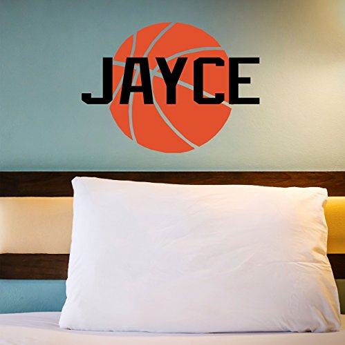 Custom Name Basketball Wall Decal - Boys Girls Personalized