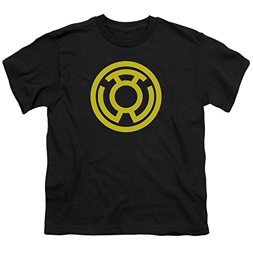 (Green Lantern Yellow Emblem Unisex Youth T Shirt for Boys and Girls, Small)