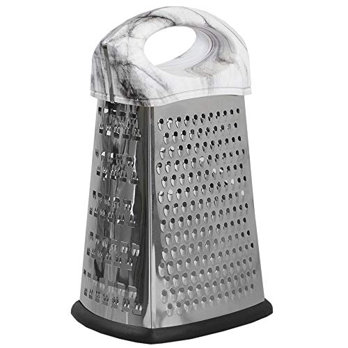 (Home Basics 4 Sided Stainless Steel Cheese Grater with Faux Marble)