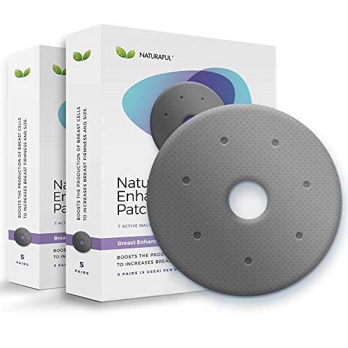 NATURAFUL - (2 Packs) TOP RATED Breast Enhancement Patches - Natural Breast Enlargement, Firming and Lifting Patch | Trusted by Over 100,000 Users & Includes Handbook