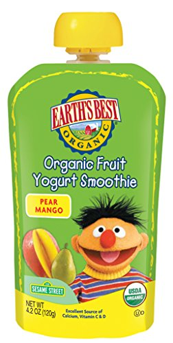 Earths Best Pear (Earth's Best Smoothie Pear Mango, 4.2-Ounce (Pack of 12))