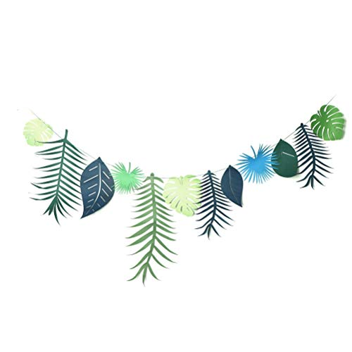 Streamers Confetti - 3meter Tropical Leaves Banner Garland Bunting 1set Shower Party Decor Home Ornament - Streamers Banners Streamers Confetti Necklace Garland Party Halloween Banner Chinese -