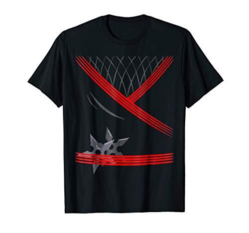 Mens Ninja Costume Shirt One sided Halloween XL