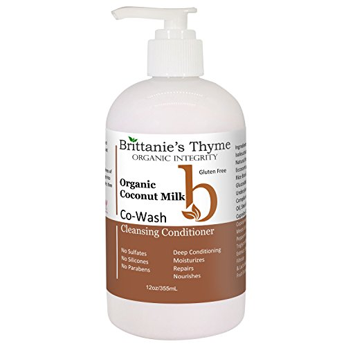 Organic Natural CoWash Cleansing Conditioner - 4-in-1 Formula Cleanses, Conditions, Detangles, and Nourishes. No Sulfates, No Parabens, No Silicone (Coconut Milk)