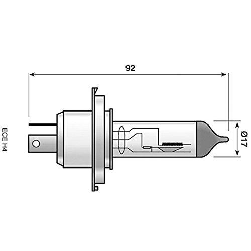 Spahn Scheinwerferlampe Halogen H4 Sockel P43t 12 V 60/55 W klar Motorrad