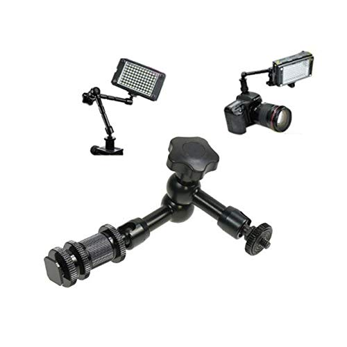 """TEZONG 7 inch Magic Arm Articulating Friction Arm with Super Crab Clamp and 1/4"""" 3/8"""" DSLR Tripod Shoe Mount Thread Kit for Photography, Video, Camera Rig, LCD Monitor,LED Light, Flash Light"""