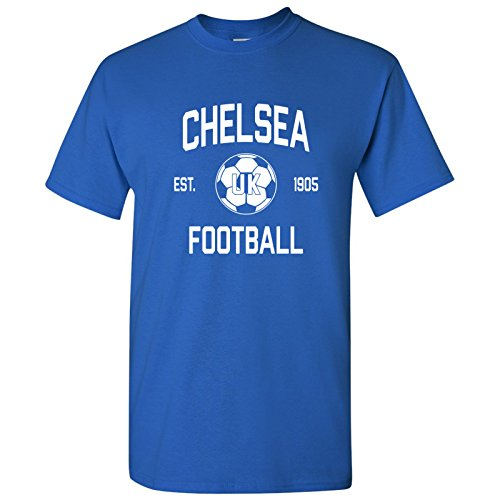 Chelsea UK Home Kit World Classic Soccer Football Arch Cup T Shirt - Small - Royal