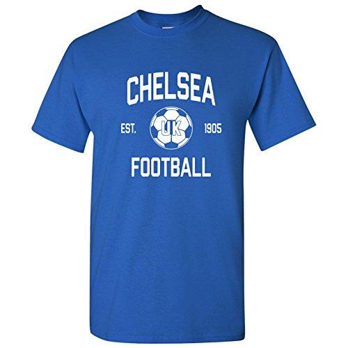 Chelsea UK Home Kit World Classic Soccer Football Arch Cup T Shirt - Medium - Royal