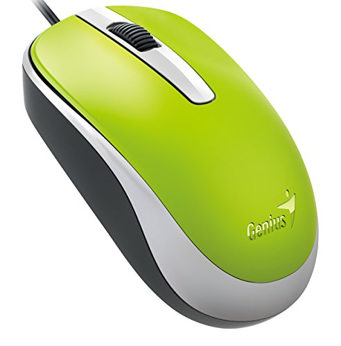 Genius Classic Wired Optical Mouse  Green  Dx 120Green