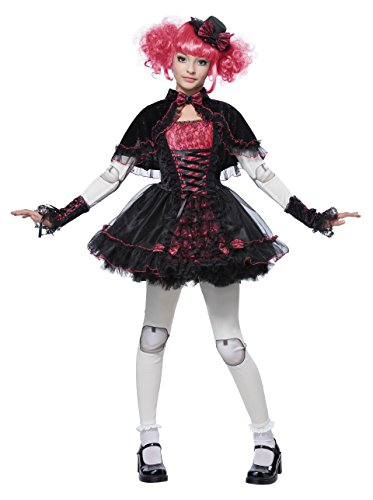 California Costumes Victorian Doll Child Costume, Medium (Goth Halloween Costumes For Kids)