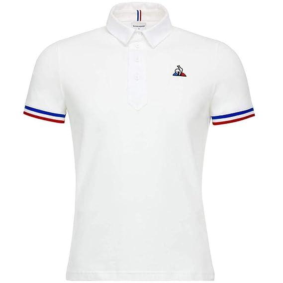 c14cce285a5c Le Coq Sportif Tri Homme Polo Blanc  Amazon.fr  Vêtements et accessoires