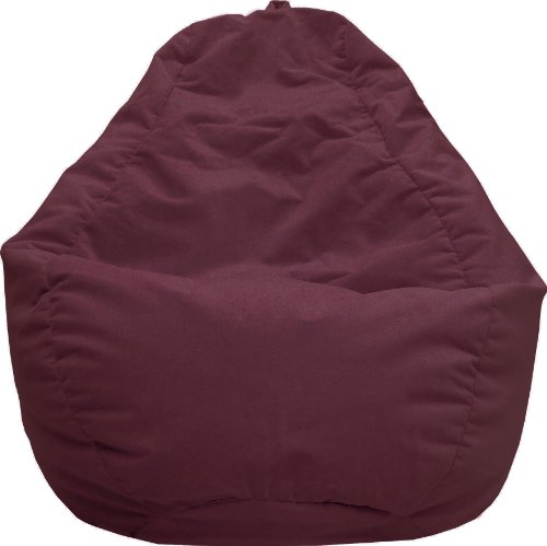 (Gold Medal Bean Bags 30011258847TD Large Fairview Suede Tear Drop Bean Bag, Wine)