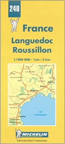 Roussillon France Map.Michelin Languedoc Roussillon France Map No 240 Michelin Maps
