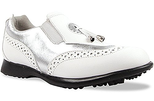 Sandbaggers Madison II Women's Golf Shoes (Silver, 7 (Sandbaggers Womens Shoes)