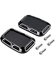 1 Pair of Edge Cutting Front Brake Clutch Master Cylinder Cover Compatible with Harley Night Rod Special V Rod Muscle VRSCF VRSCDX 2010-2017 (2pcs, Left&Right)