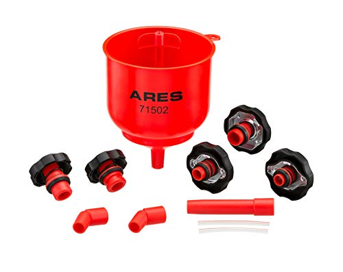 Motorcycle System Cooling (ARES 71502 | Spill Proof Coolant Filling Kit | Eliminates Trapped Air Pockets and Squeaky Belts Due to Overflow)